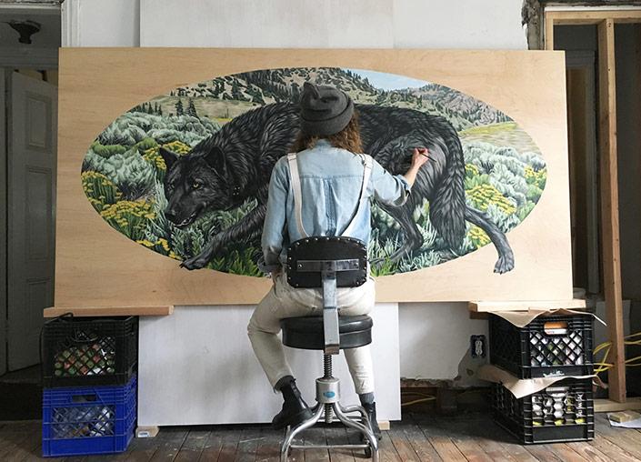 Emily_White_Artist_Wolf_Painting